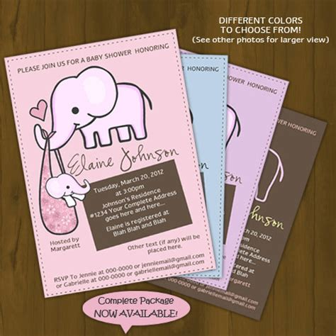 printable elephant invitations printable elephant baby shower invitations theruntime com