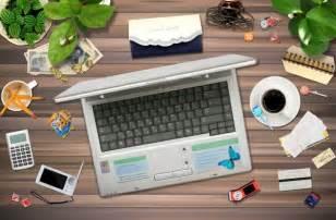 4 designer office desktop psd layered material