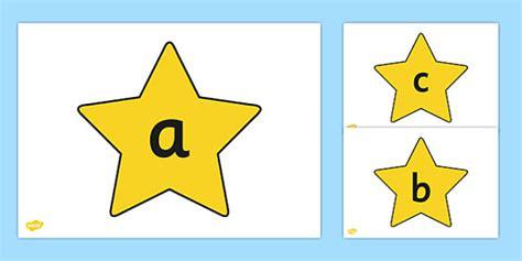 alphabet  stars alphabet frieze letter posters display