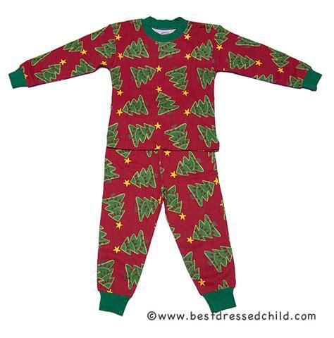 sara s prints red christmas tree lights pajamas for boys