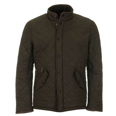 Barbour Quilted Jackets by Barbour Powell Quilt Olive Green
