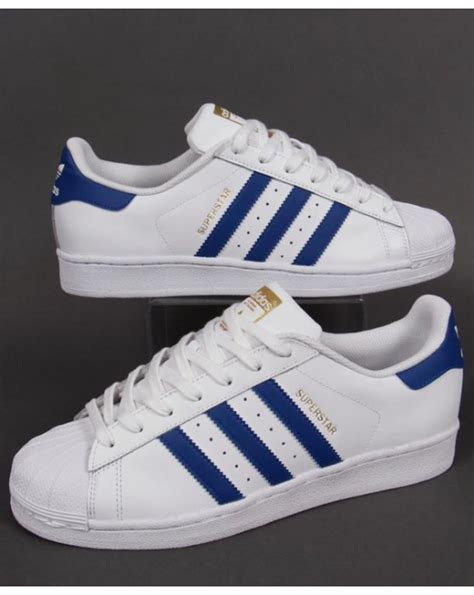 adidas superstar foundation trainers whiteroyal blue