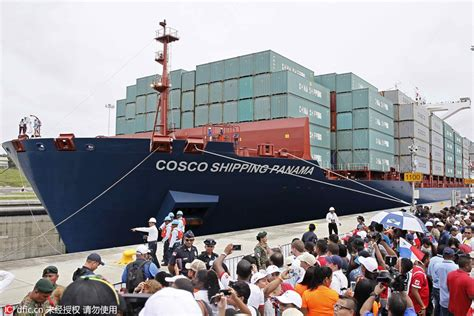 shipping boat to panama expanded panama canal opens with chinese ship making first