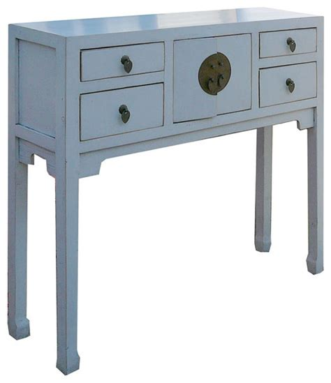 Narrow White Console Table Narrow White Console Table Rustic White Color Solid Wood Narrow Console Altar Table Desk F896
