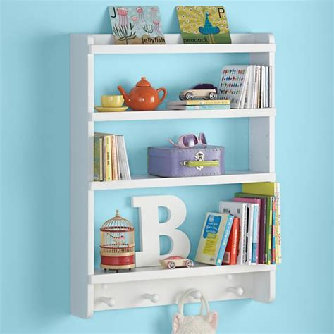 hanging bookshelves for wall rack white hanging wall book shelf the land of nod