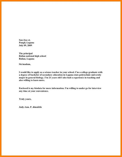 application letters sle for teachers sle application letter for teaching position pdf 28 images application letter sle for
