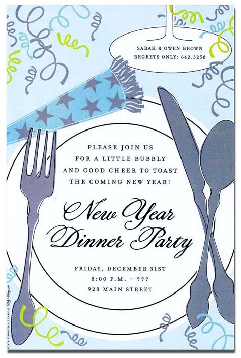 new year dinner invitation wording new year s invitations