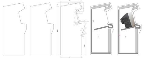 Blueprints Free by Home Arcade Machine Part 7 Cabinet Plans Retromash