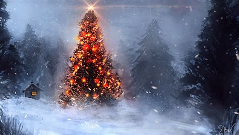 christmas tree by powl96 on deviantart