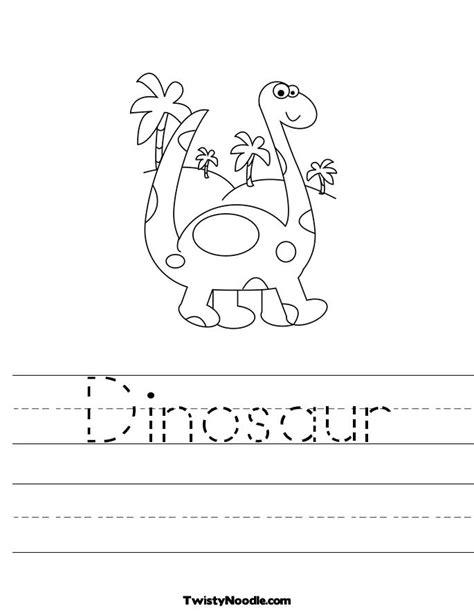 8 best images of dinosaurs writing worksheets preschool