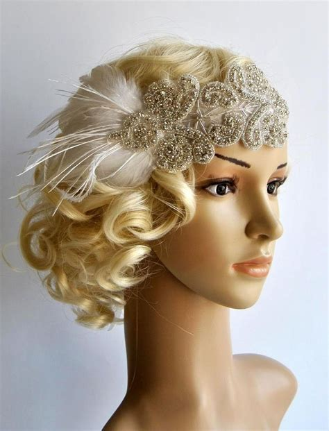 pictures great gatsby styles headpiece for women long best 25 bridal headpieces ideas on pinterest long
