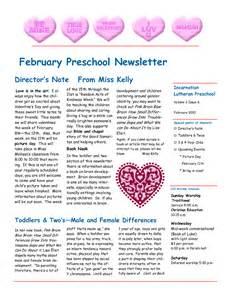 february newsletter template best photos of february preschool newsletter sles