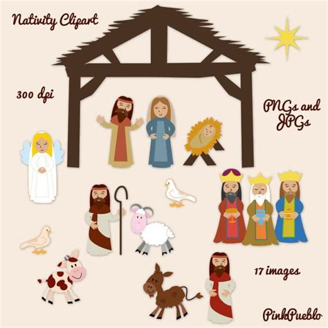 printable paper nativity scene christmas nativity clipart maybe print onto card stock