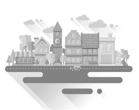tutorial flat design illustrator how to create a flat grayscale cityscape in adobe illustrator