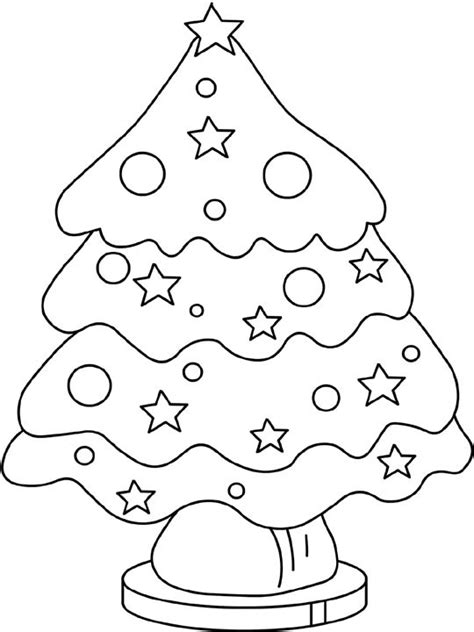 christmas tree colouring pages print coloring 2