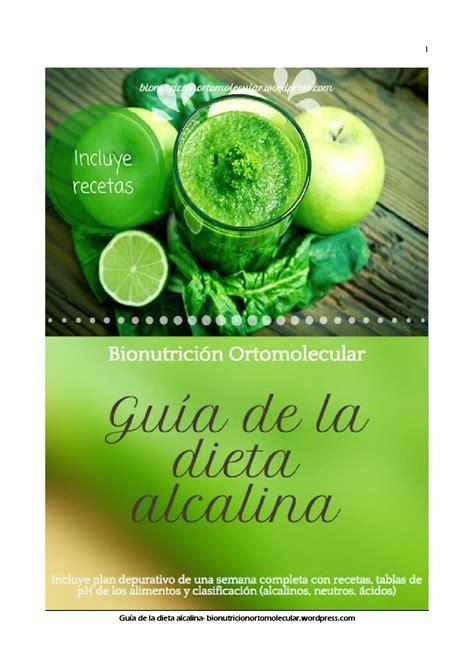 guia de la dieta alcalina  bionutricion  bionutricion ortomolecular issuu