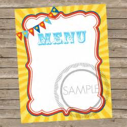 Blank Food Menu Template by Sle Blank Menu Template 21 In Pdf Psd Eps