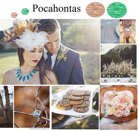 pocahontas disney wedding inspiration
