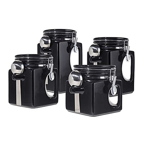 oggi kitchen canisters buy oggi ez grip handle 4 piece kitchen canister set in