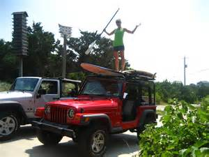 Paddle Board On Jeep Wrangler Paddle Board Racks For Jeep Wrangler