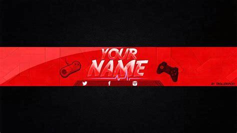 layout para banner photoshop banner editable para tu canal de youtube photoshop