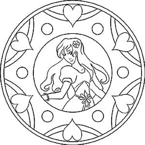 mandalas zum ausdrucken disney mandala