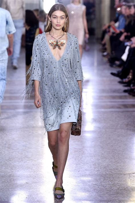 Milan Fashion Week by Gigi Hadid At Bottega Veneta Fashion Show At Milan Fashion