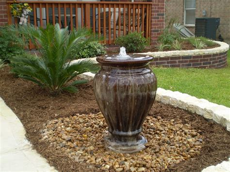 backyard water fountain water features