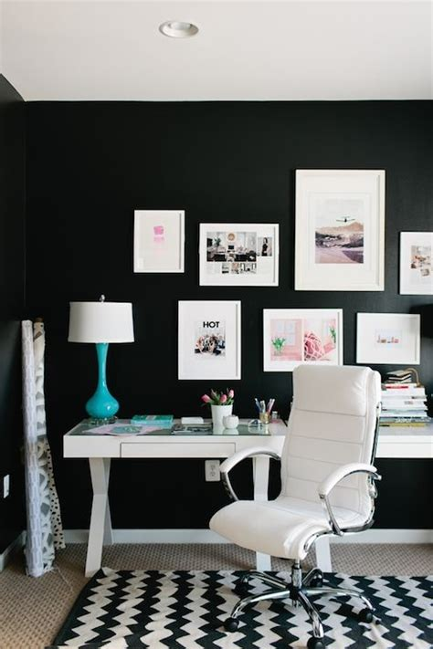 black and white home office decorating ideas jws interiors dens libraries offices world market josephine desk black and white rooms