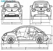 CAR Blueprints  Volkswagen Beetle Vector Drawings