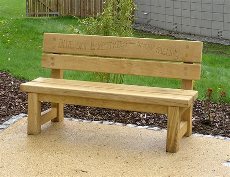 bench style seating therapy garden seating and shelters chris nangle