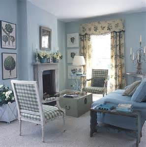 Blue And White Living Room Blue And White Traditional Meets Country Living Room