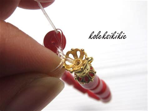 cara membuat gelang elastis cara membuat gelang dari senar elastis koleksikikie