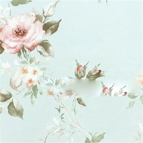 Promo Jam Dinding Kayu Vintage Shabby Flower jual wallpaper bunga floral flower shabby chic vintage