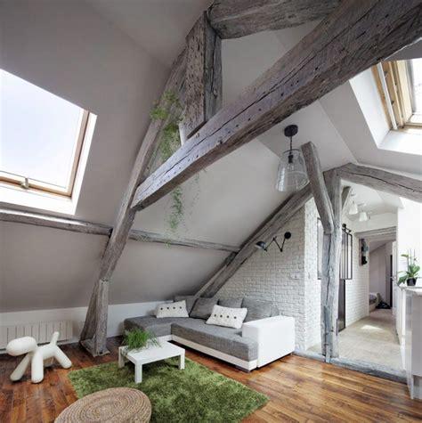 Couleur Poutres Au Plafond by Plafond Poutre Apparente Pour Apporter Une Touche Rustique