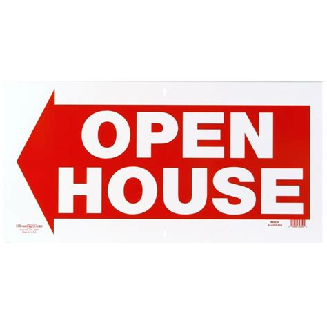 where to buy open house signs shop hillman sign center 12 in x 24 in open house sign at lowes com