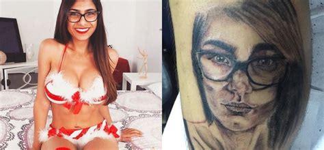 batman tattoo mia khalifa mia khalifa trolls fan who gets her face inked on his leg