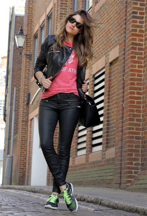 fotos de chompas de cuero para dama outfit con chaqueta de cuero negra con jean buscar con