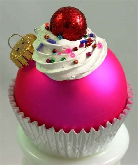 confectionery holiday trimmings cupcake ornaments