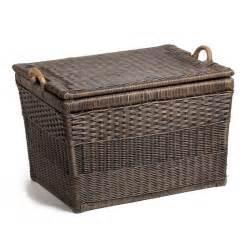 Pantry Storage Containers Australia - wicker lift off lid storage baskets shown in antique walnut brown grande jpg v 1434215972