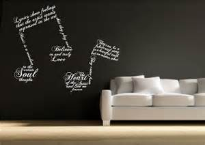 Music Wall Art Stickers music note symbols wall art sticker quote decal transfer mural stencil