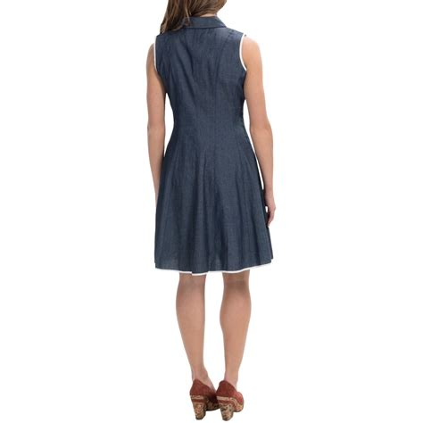Maia Fit and Flare Button Up Dress (For Women)   Save 71%