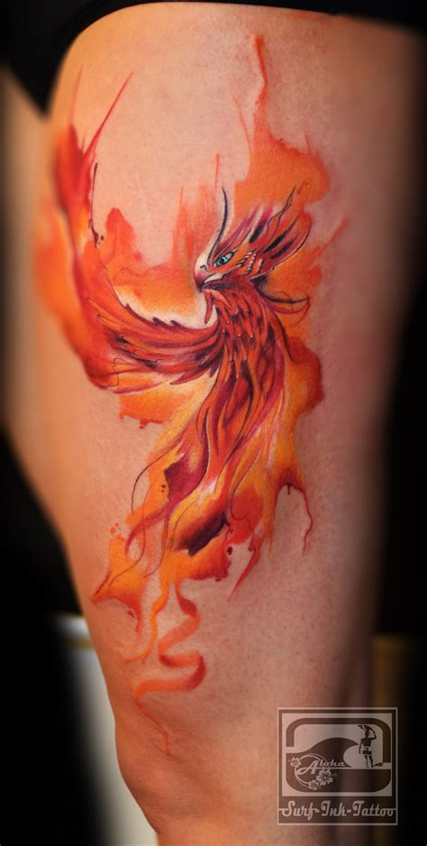 phoenix tattoo watercolour ph 246 nix aquarell surf ink