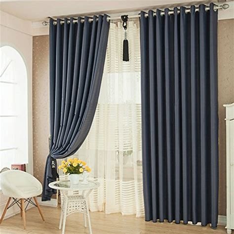 102 inch drapes ffmode solid color blackout drapes curtains grommet top