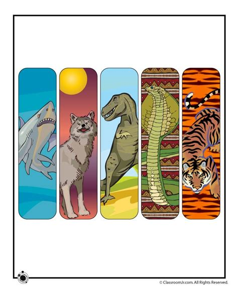 printable animal bookmarks free printable animal bookmarks free printables