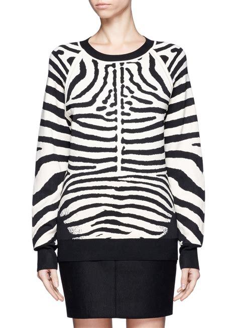 Knit Sweater Zebra a l c zebra print rayon knit sweater in animal animal print multi colour lyst