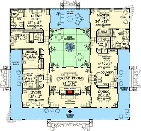 Style Home Plans With Courtyard by Style House Plans With Interior Courtyard Www