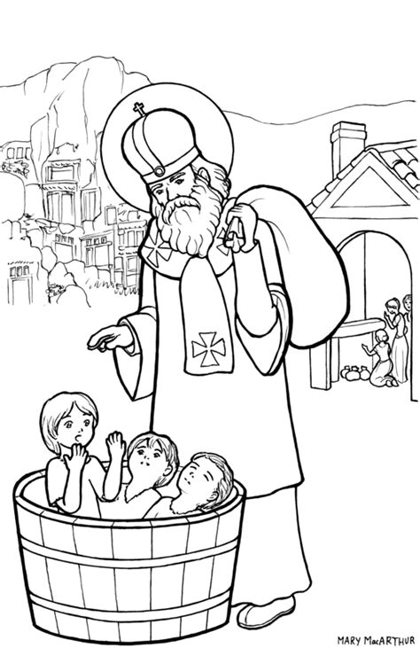 st nicholas coloring page by firefiriel on deviantart