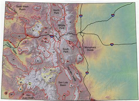 colorado mountains map my topographic features colorado geological survey