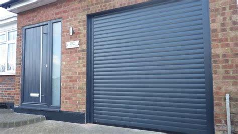 8x8 Garage Door Eg55 8x8 Anthracite Electric Roller Garage Door Easyglide Garage Doors Derby Ltd